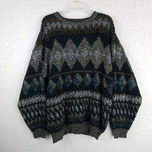 Vintage 80s 90s Sweater Graphix Sweater Mens Large